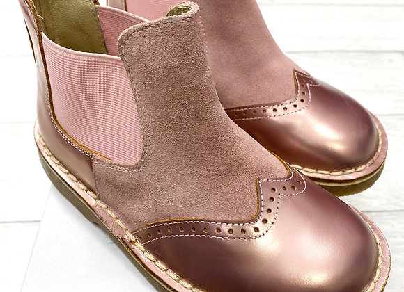 Rochy Pink Chelsea Metalic Boot