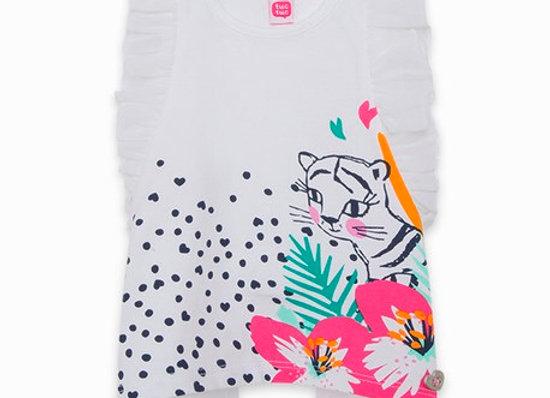 Tuc Tuc Girls Tiger Print Tshirt and legging set