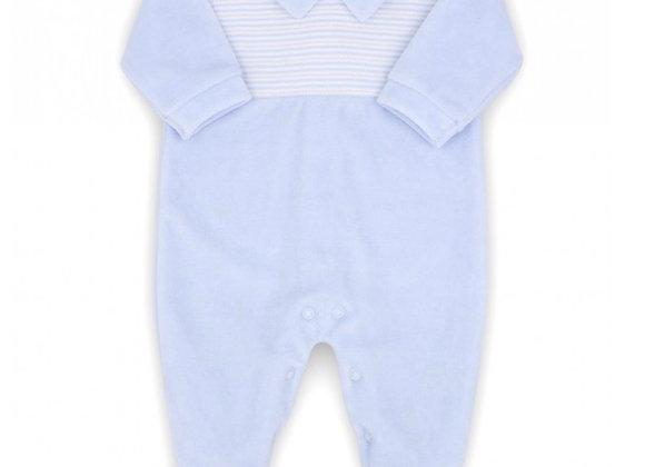 Rapife baby boy stripe velour babygrow