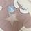Thumbnail: Juliana pink star knit romper set