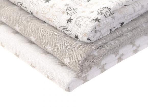 Ziggle grey white muslins