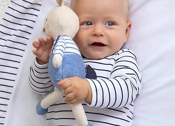 Mayoral baby boy navy stripe babygrow
