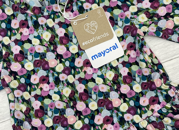 Mayoral baby girl lilac flower dress