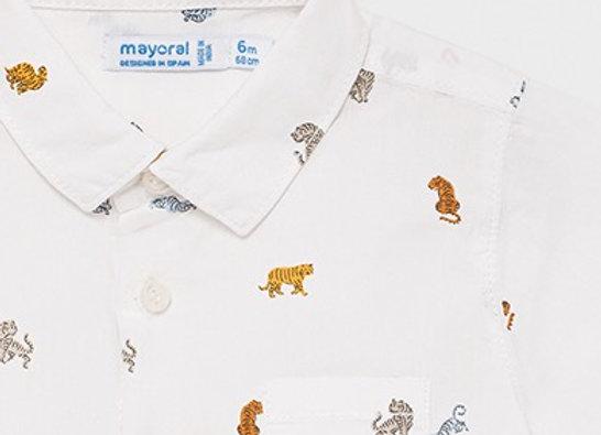 Mayoral baby boy tiger print shirt