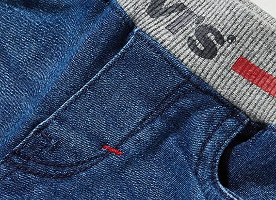 Levi's baby boy skinny jeans rib knit waist band