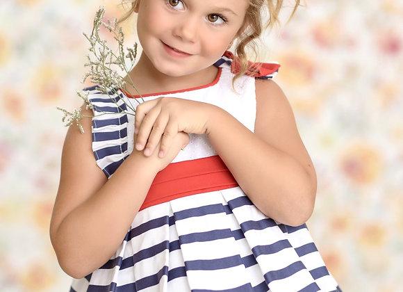 Miranda Baby Girls Stripe and Red Dress