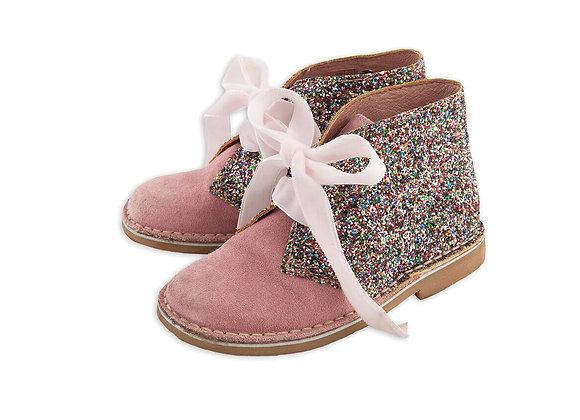 Rochy Pink Tie Glitter Boot