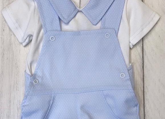 Sardon Ben blue dungaree set