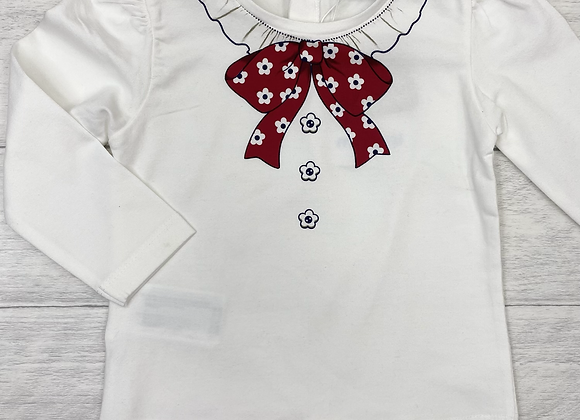 Mayoral baby girl bow top