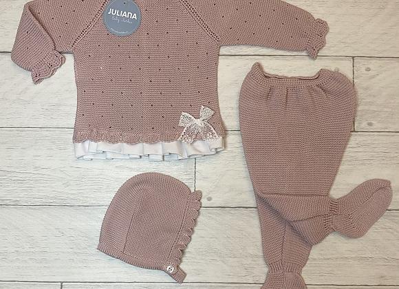 Juliana pink knit set