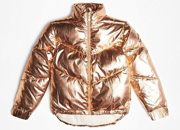 Guess foil gold puffer coat