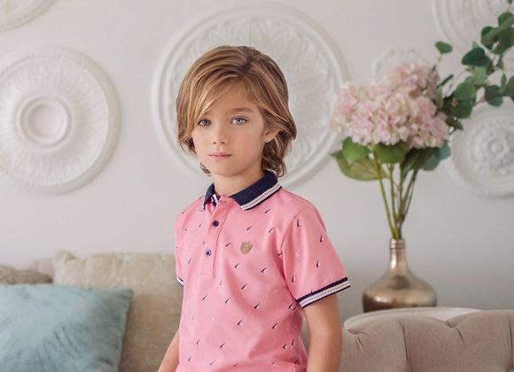 NelBlu Boys Pink Polo Shirt