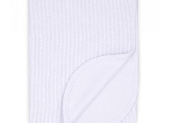 Rapife White Ribbed Blanket