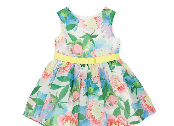Tutto Piccolo Girls Tropical Flower Dress