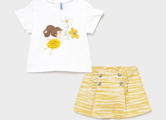 Mayoral Baby Girl Flower Set