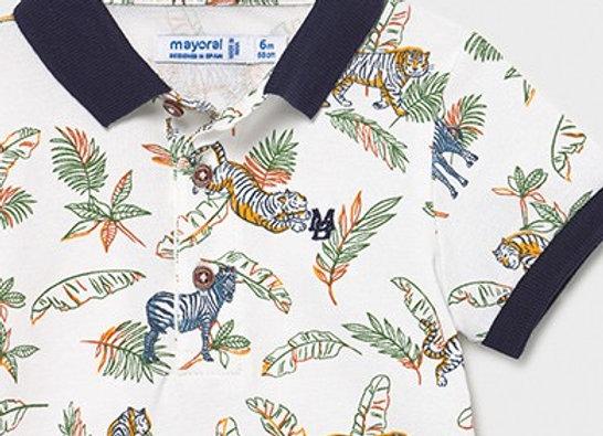 Mayoral jungle print polo