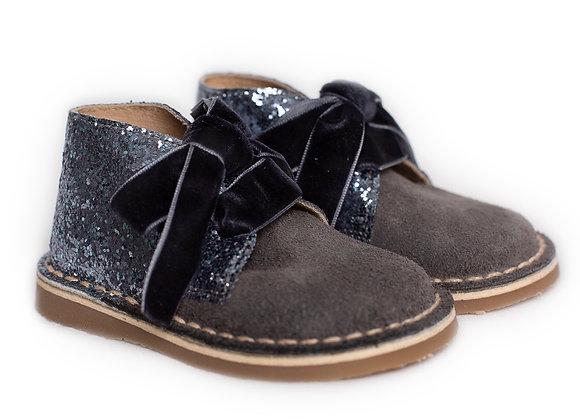 Rochy Grey Tie Glitter Boot