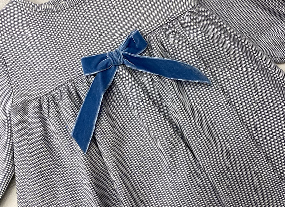 Babidu blue bow dress