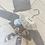 Thumbnail: Juliana grey and white long robe dress and bonnet