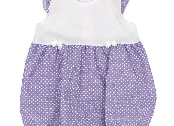 Rapife Lottie purple dot romper