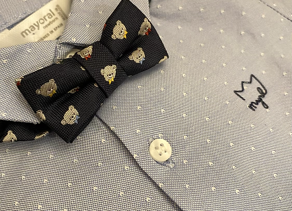 Mayoral baby boy shirt and bow tie
