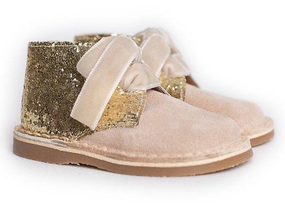Rochy Gold Tie Glitter Boot