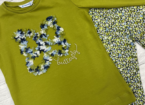 Mayoral girl butterfly floral set