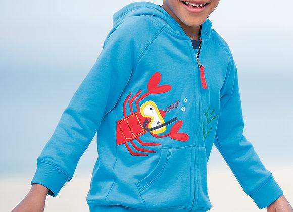 Frugi Lobster Zip Hoody