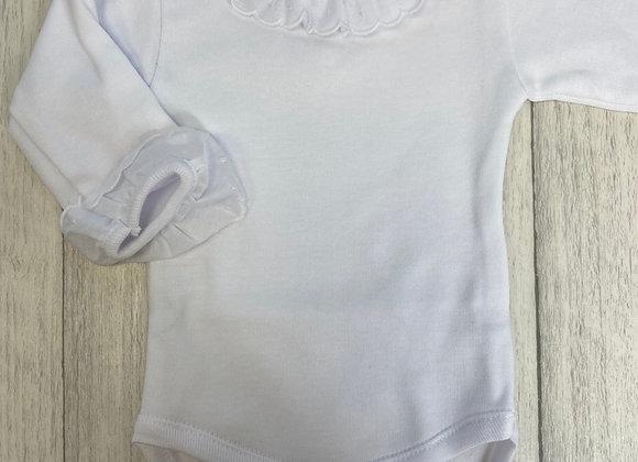 Rapife White Frill Collar vest