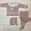 Thumbnail: Juliana pink frill knit set