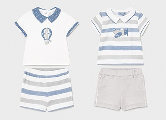 Mayoral baby boy short set two pack