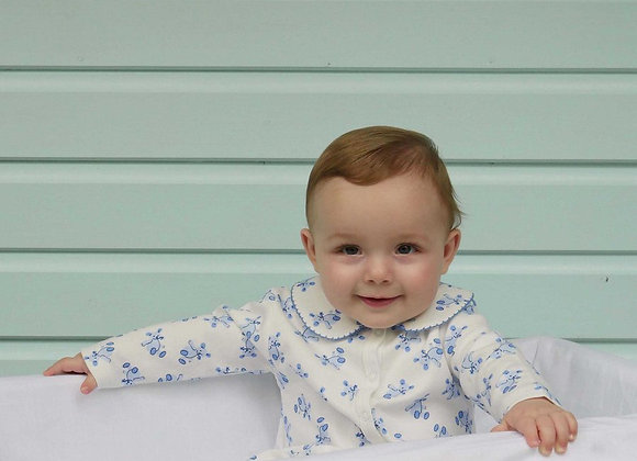 Rachel Riley blue teddy babygro