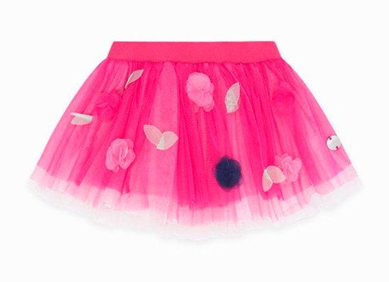 Tuc Tuc  Tulle Flower and glitter skirt