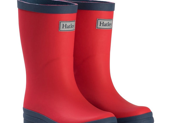 Hatley Red and Navy Wellies