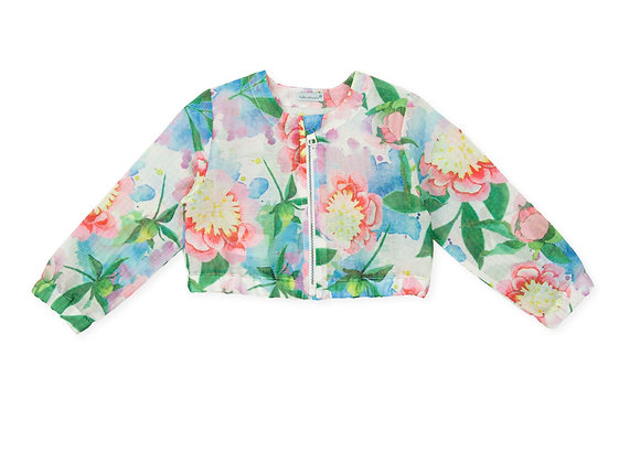 Tutto Piccolo Girls Tropical Cropped Jacket