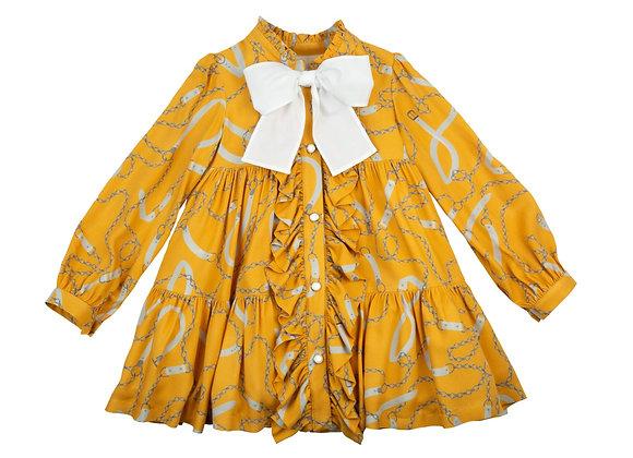 Rochy mustard chain dress
