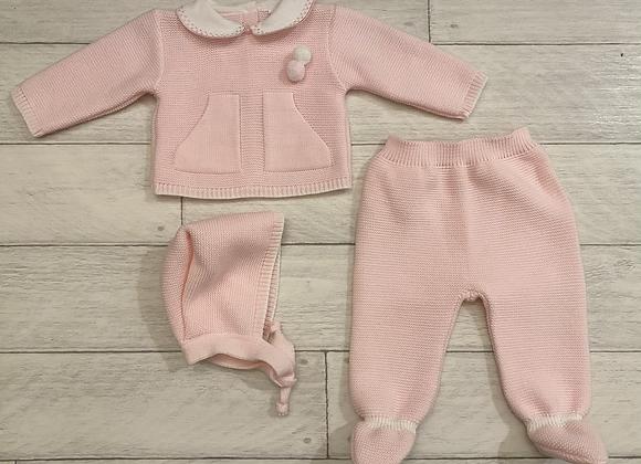 Baby Girl three piece knit set