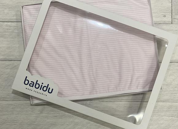 Babidu stripe blanket PINK