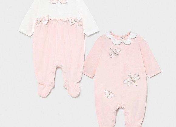Mayoral baby girl babygrow set