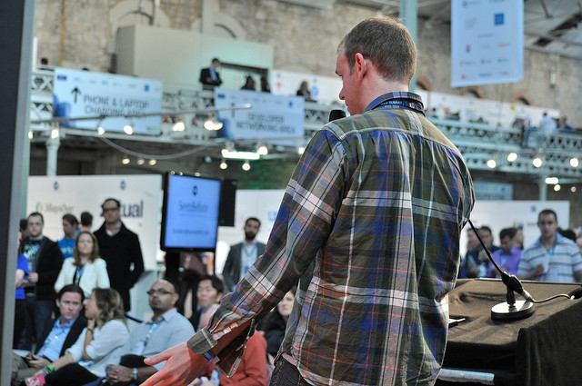 Pitching in Web Summit, photo: Rory Moorhead