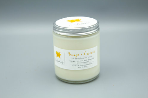 Mango Coconut soy candle