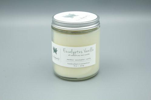 Eucalyptus Vanilla soy candle