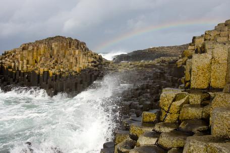 Rainbow over Giant's Causeway
