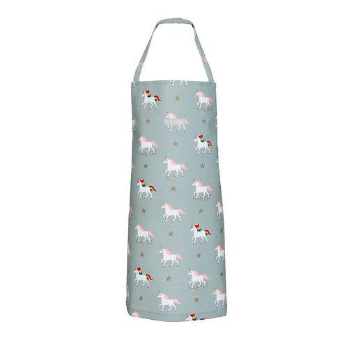 Children's Oilcloth Apron - Unicorn