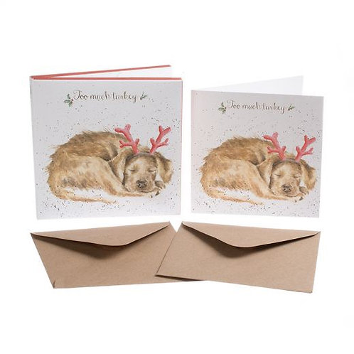 Wrendale Christmas Cards - Too Much Turkey