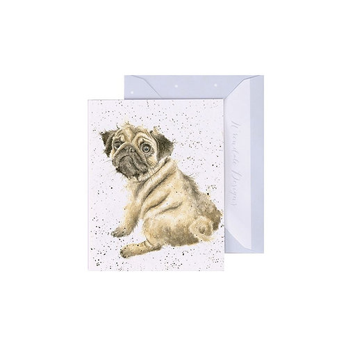 Wrendale Mini Card - Pug Love