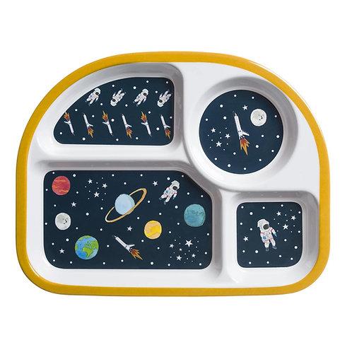 Space Childrens Melamine Divider Plate - Sophie Allport