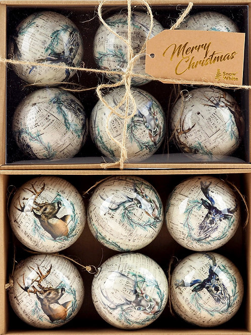 Antique Stag Style Baubles