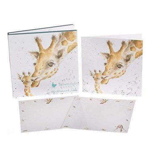 """'First Kiss"""" Giraffe Notecard Pack"""