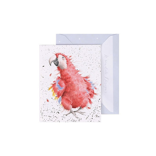 Wrendale Mini Card - Parrot on Parade